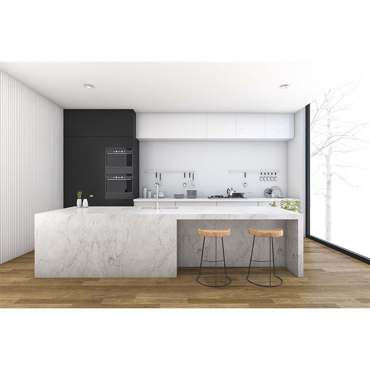 Modern fashion style new luxury MDF laqueer door wood kitchen cabinet