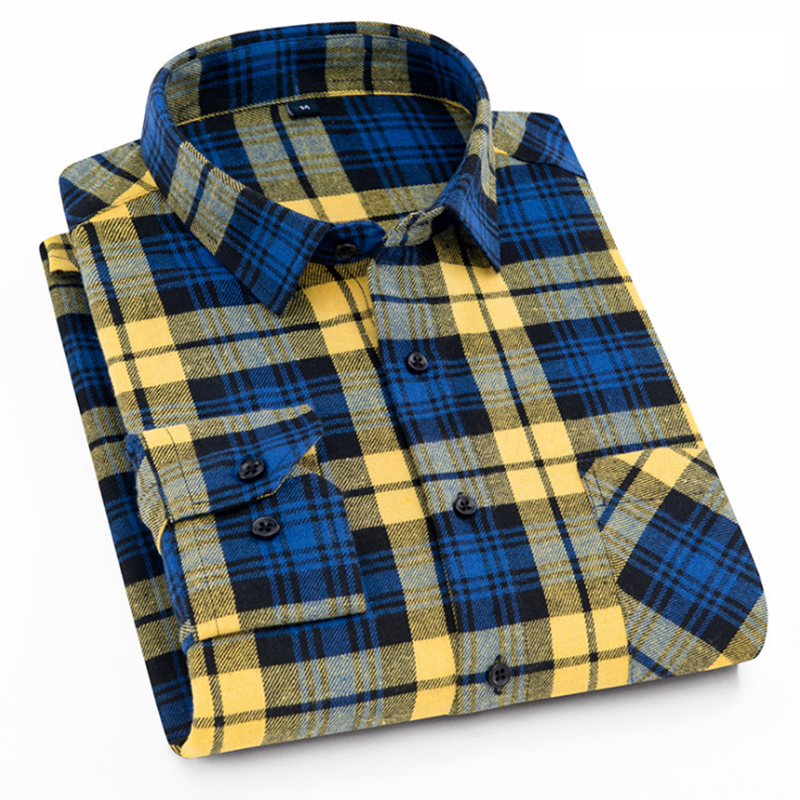 mens flannel plaid shirt clothes floral for men long sleeve formal shirts