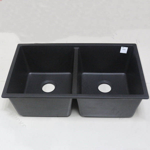 Scratch resistance and durable black quartz stone kitchen sink