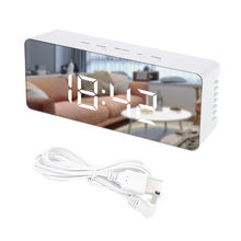 Hot Selling desktop Alarm clock Mirror LED Digital Table Clock