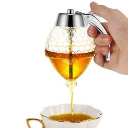 Syrup Honey Dispenser Glass with Storage Stand,  8-Ounce Capacity