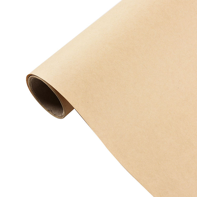 Brown Kraft Wrapping Paper Roll For Wedding Birthday Party Gift Wrapping Parcel Packing 80gsm Kraft Paper