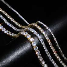 New 925 Sterling Silver  3mm tennis chain cz Iced Out Hip Hop by men Link sneakers Jewelry necklace chain To Present