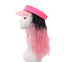 Cosplay Party Wig Cap Customized Women's Fancy Dual Purpose Detachable Curling Cap New Spring and Summer Sun Shading Visor