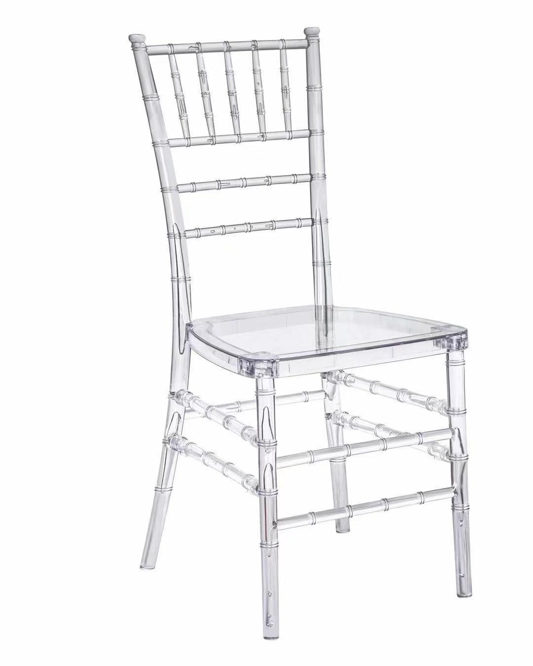 Hot sale wedding chair event resin stacking clear resin chiavari chairs