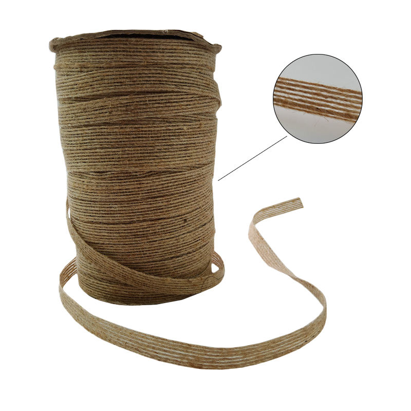 Natural Jute/Burlap Ribbon Roll for Arts and Crafts, DIY Wedding Christmas Decorations and Gift Wrap