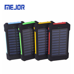 Outdoor Camping Solaire Powerbank 20000 Mah Mobiele Draagbare Power Bank Sunshine Solar Telefoon Laders