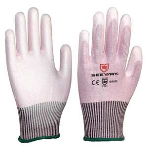 HPPE Level 3 Cut Resistant Gloves PU Coated For Household
