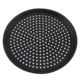 YJ 174650 Nonstick Black Perforated Baking Pan Round Plate Pizza Pan With Holes For Sale