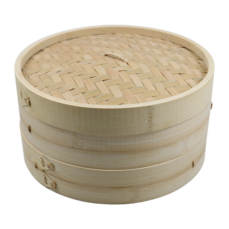 Custom Size Durable Chinese Handmade Round Bamboo Rice Dim Sum Dumpling Baby Food Steamer Basket For Sale