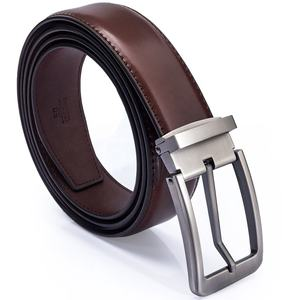 Popular Pin Single Buckle Thick Slim Adjustable Genuine Leather Fashion Belt