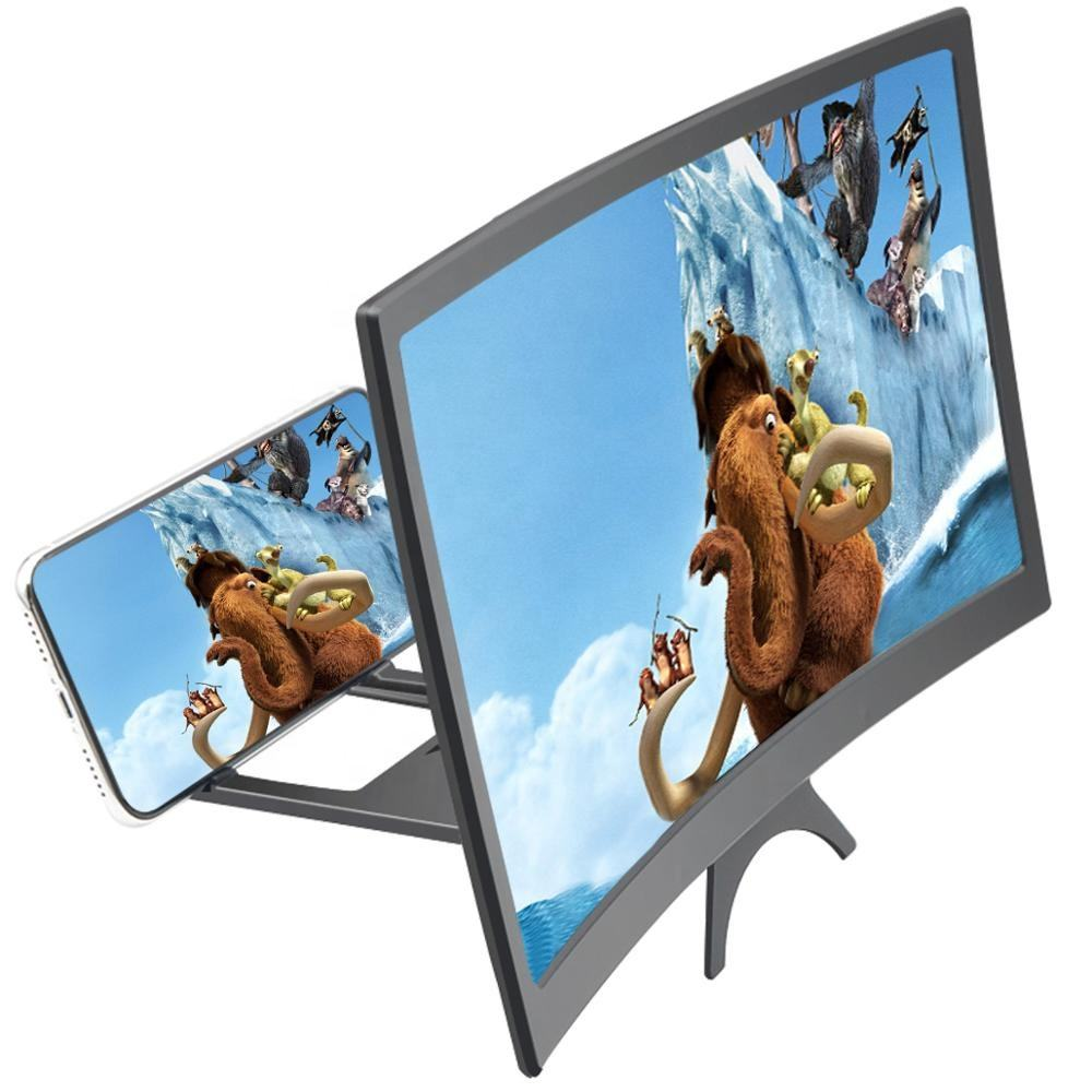 12inch Foldable hd tv video table mobile phone screen magnifier for enlarged screen 3D Smart Mobile Phone magnifier