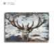 Large clouds effect painting David's deer art 3d room wall metal decor