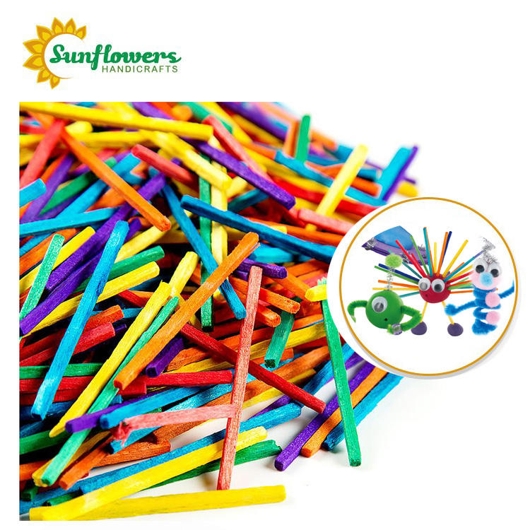 50mmX2MMX2MM wooden colored craft match sticks for diy toys