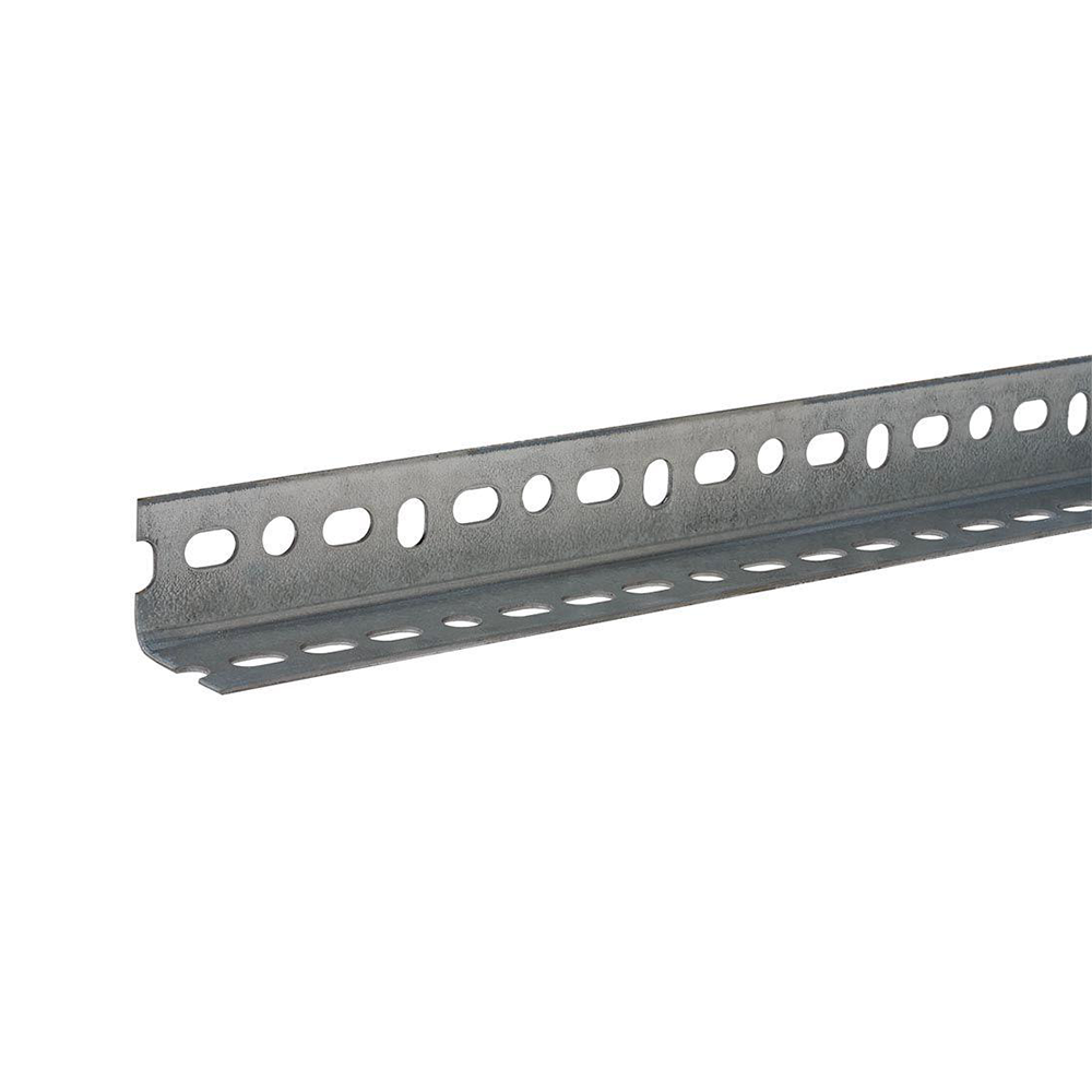 Slotted steel angle bar galvanized with holes