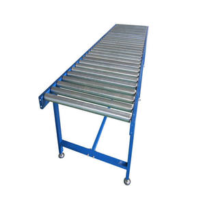 Free Gravity Steel Roller Conveyor System Corrugated Box Production Line