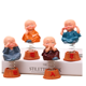 resin sculpture home decorated little monk buddha figurine set car accessories interior decorative statue