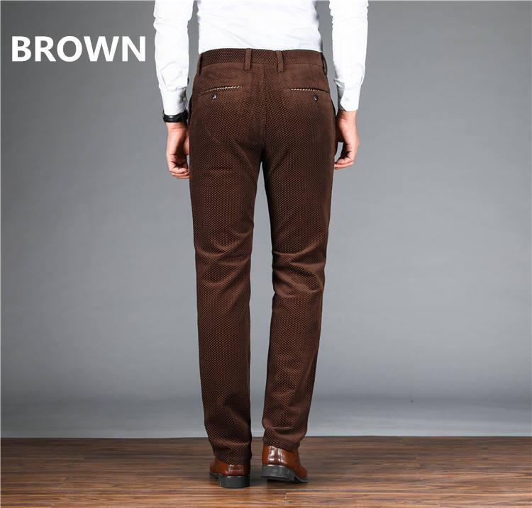 Hombre Pantalones De Algodon De Pana Formales Elegantes De Cordon Para Hombre Tallas 30 50 Casuales Tallas Grandes Ropa Leitingcuisine Com