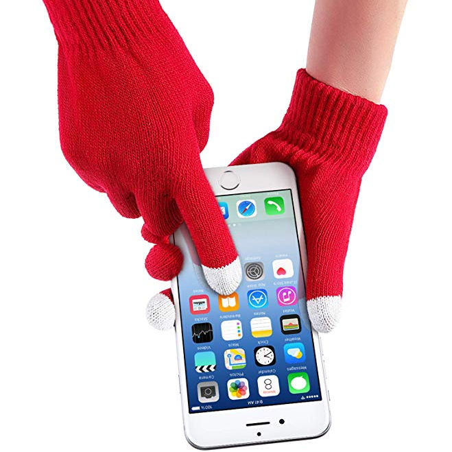Fashion Warm 3 Fingers Acrylic Sensor Texting touchscreen Winter Glove Thermal Touch Screen Mittens for Cell Phone