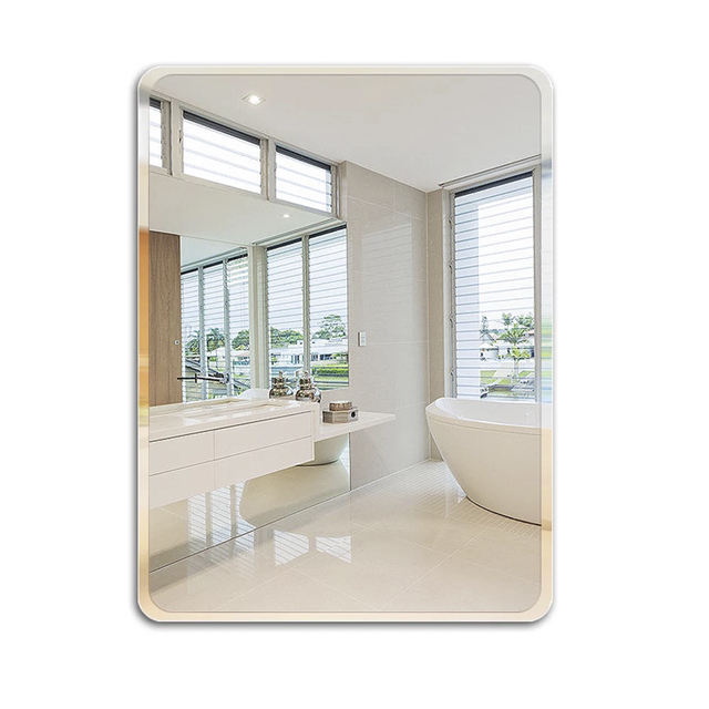 3mm 4mm 5mm beveled edge silver mirror for bathroom usage