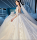 Latest 3/4 Long Sleeve Luxury Lace Ball Gown Princess Bridal Wedding Dress Gowns