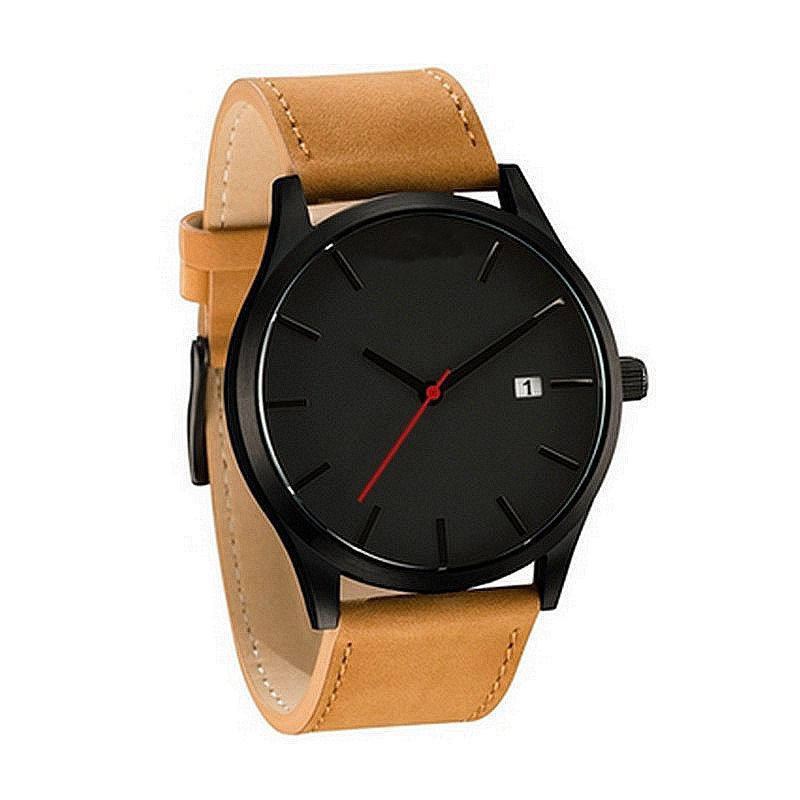 QU0107 Fashion Xinew mens watches in wristwatches leather watch strap custom luxury brand