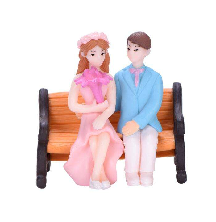 one piece miniature human olde people couples baby boy girl lady gentleman small plastic toy figures