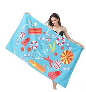 High Quality Custom Print Luxury Sand Free Microfiber Suede Beach Towel