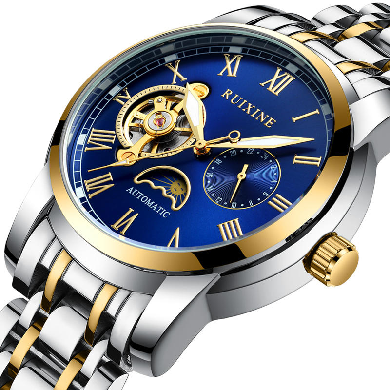 High Quality Watch Men Automatic Luxury Brand Men's Oem Gold Top Mechanical Watch Man Wrist