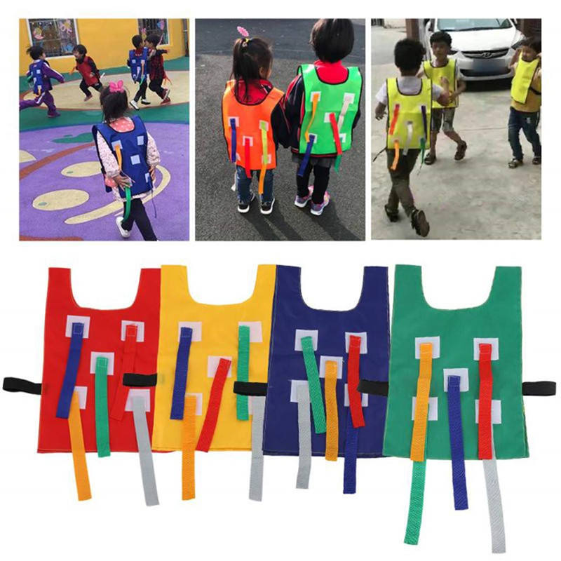 Small Vest for Pull Tail Game, Kids Toddlers Outdoor Fun Activity Cloth Catch Tails Game Vest for Kids Kindergarten School