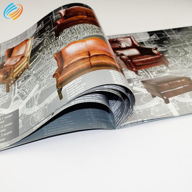 Barato catálogo impresión personalizada O hilo de alambre de costura coser <span class=keywords><strong>vinculante</strong></span> con punto Uv de cartón laminado volantes