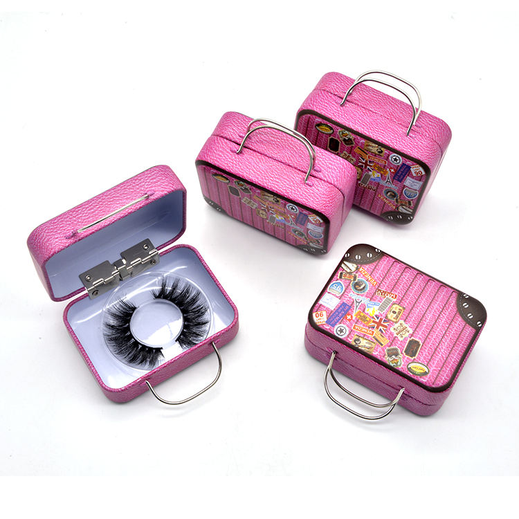 3D 5D 6D Private Label Suitcase 100% Hand Made Cruetly Free Mink False Eyelashes With Wholesale Own Brand Lash Cases