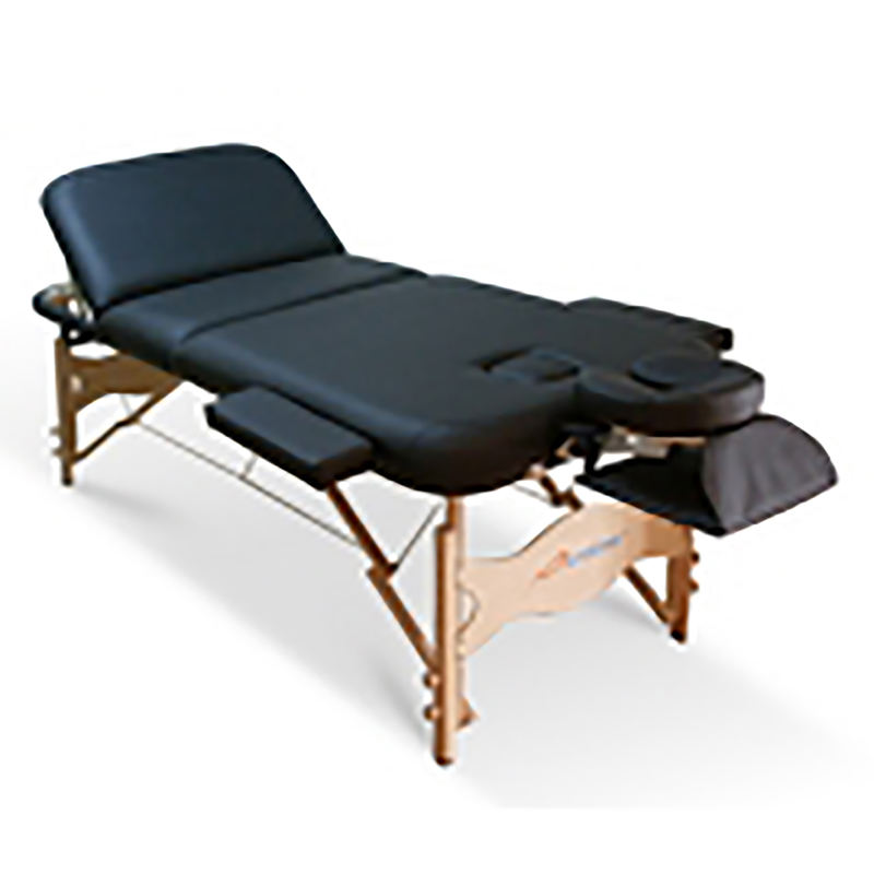Wooden portable massage table with reki end panels