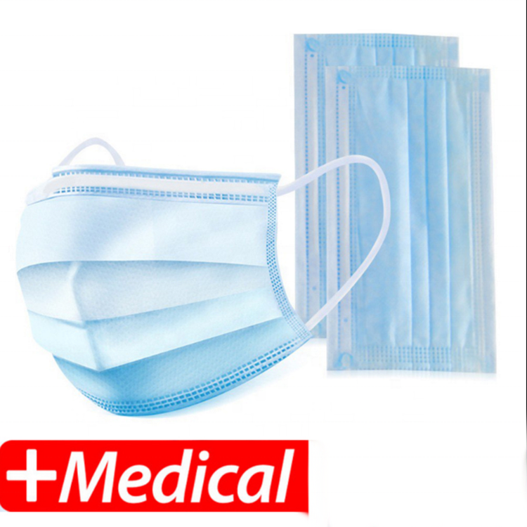Mouth Face 3 ply Disposable Medical Mask Respirators Hospital Children Kid Surgical Masks Earloop
