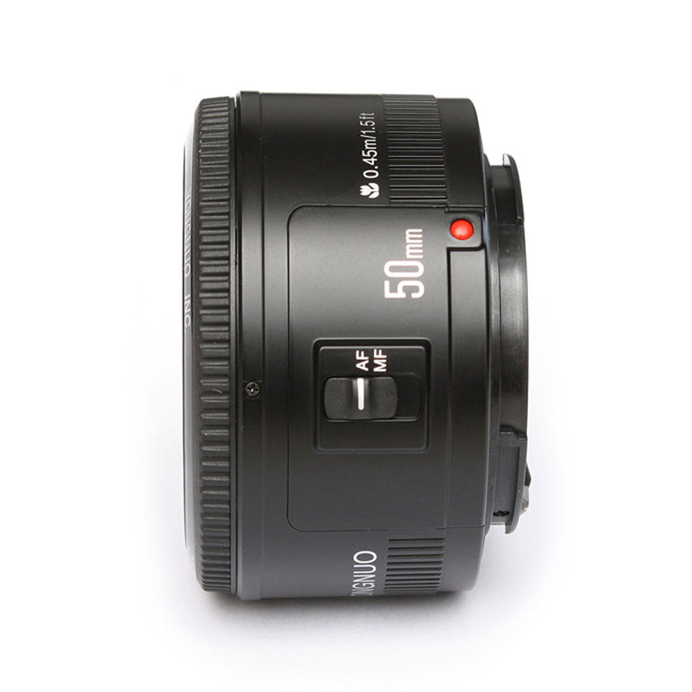 Best selling Auto Focus YN50mm f1.8 lens for Canon for Nikon EOS DSLR Cameras YONGNUO YN EF 50mm f/1.8 AF Lens Aperture