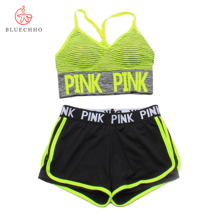 Packaging Customization [ Bra ] 2020 Gym Fitness Custom Women Comfortable Pack Yoga Sports Bra And Shorts Set
