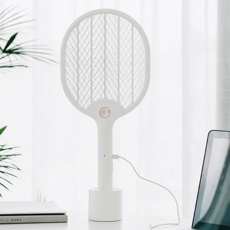 Xiaomi Youpin Elétrica Mosquito Swatter Recarregável LED Insect Elétrica Bug Fly Mosquito Dispeller Assassino <span class=keywords><strong>Raquete</strong></span> 3-Camada Líquida