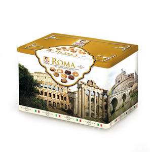 Wholesale Italian Cookies ROMA Assorted Pastries Rectangle Tin