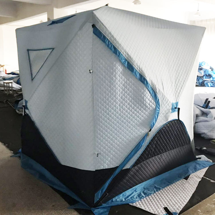 Thermal Warm Outdoor Portable Pop Up Ice Fishing Shelter Tent House Thick Cotton
