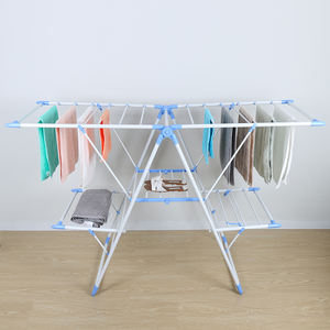18M Large Outdoor Collapsible Metal 3 Tier Drying Clothes Rack