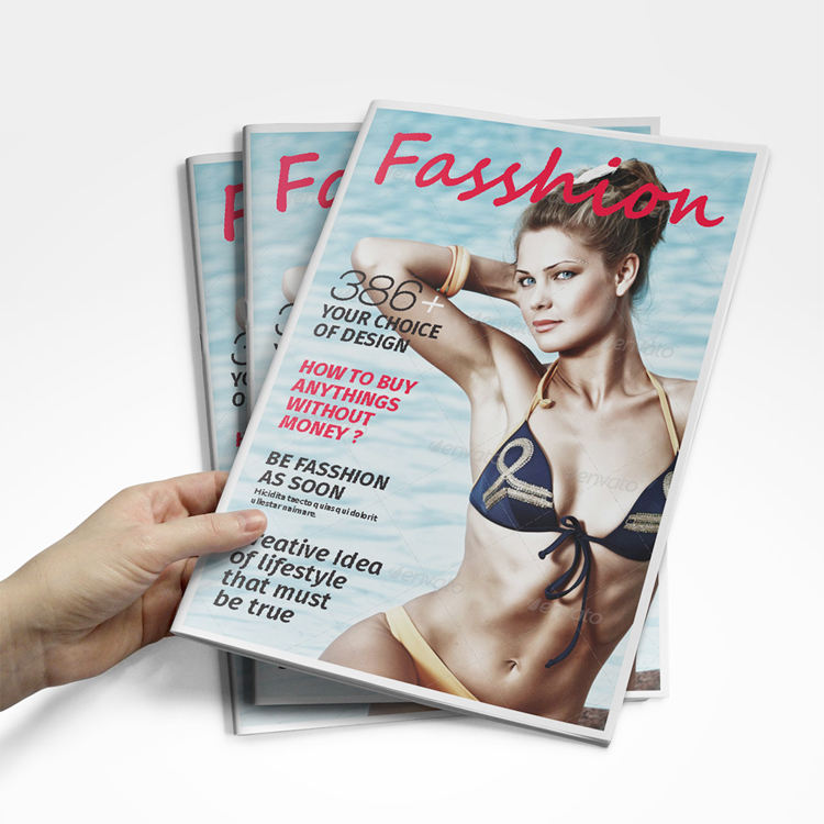 Custom Printing Full Color Low Price Cheap Matte Paper Oversea A3 A5 Fashion Met Art Magazine Printing