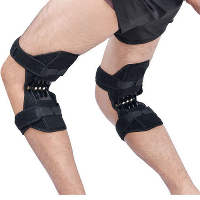 Power Knee Stabilizer Pads with spring force for reducing the pressure