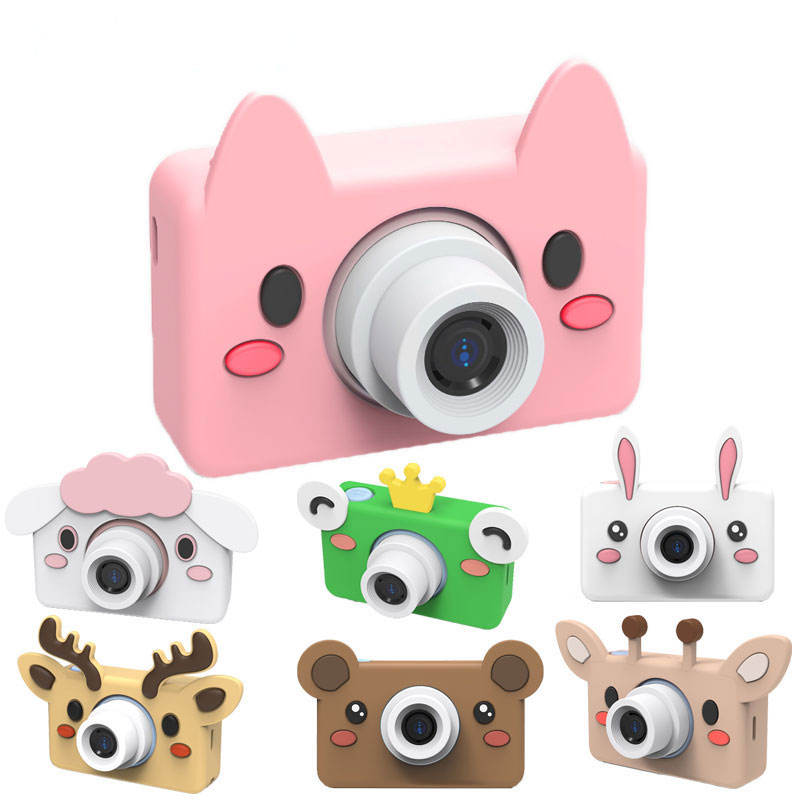 New Arrival Cute Kid's Camera Cartoon HD Screen 24Mega Pixels Kids Enlightenment Toy Birthday Gift Photo Video Digital Camera