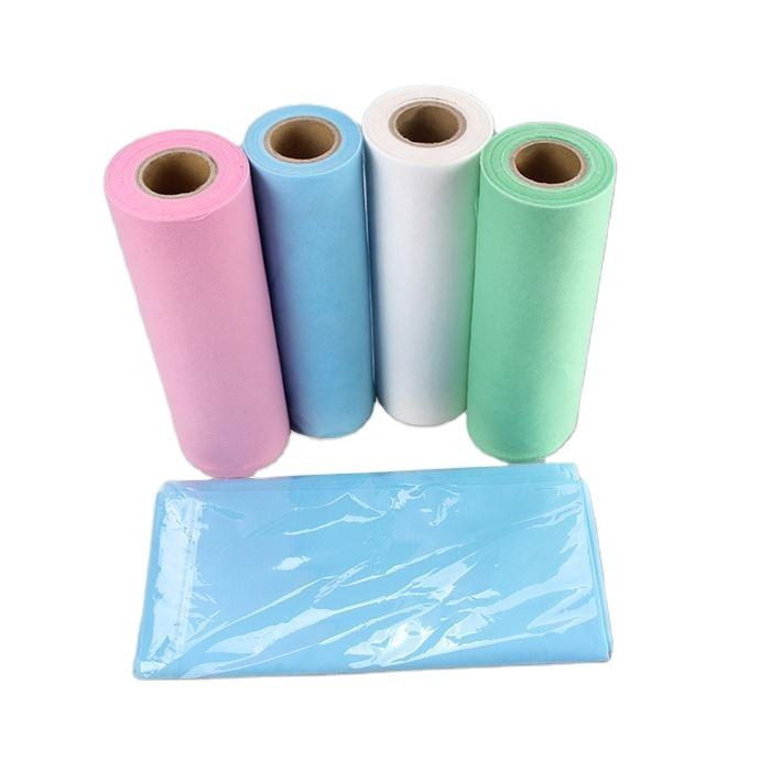 Hospital Non Woven Fabric For Bedsheet PP Nonwoven Fabric Medical Disposable Bed Sheet In Roll