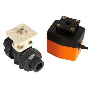 DN15 1/2 inch 2 Way 220VAC Electric Actuated PVC Plastic Motorized Ball Valve Water Control