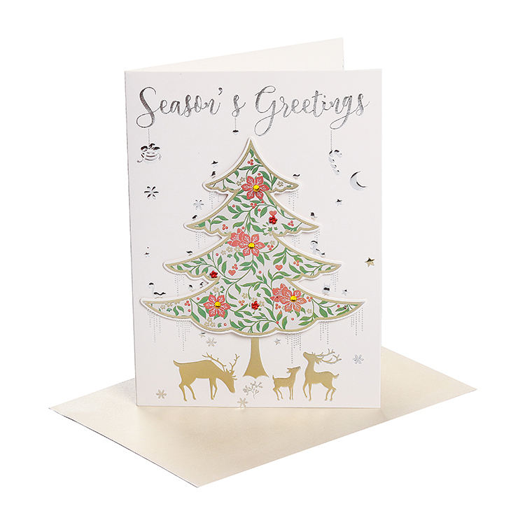 Lovely Design Handmade Christmas Greeting Card Paper Note Card