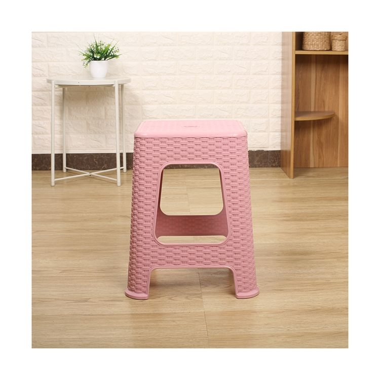Cheap Indoor Living Room Square Plastic Stool Industrial Plastic Step Stool