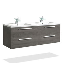 Double sink  french bathroom commercial basin vanity cabinet