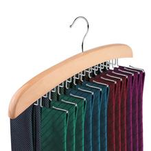 Inspring Wooden Tie belt Rack Hanger Holder Tie Organizer 24 Hooks