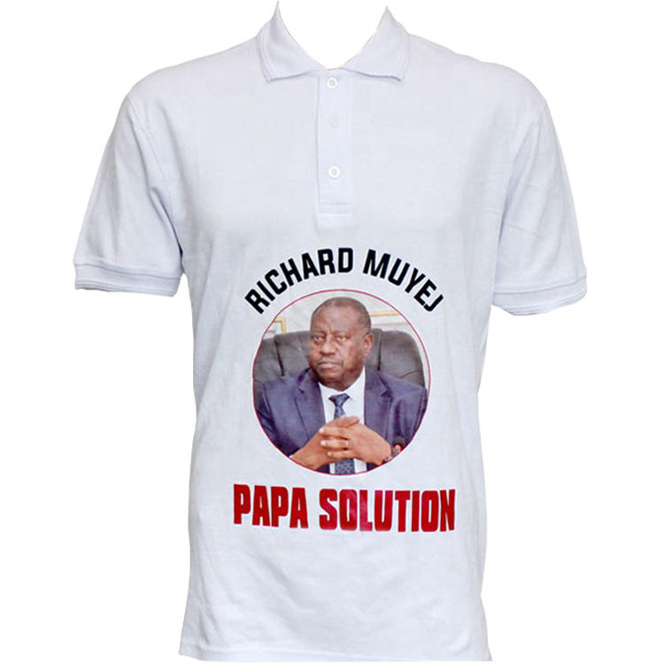 Customized plain promotional political campaign tee shirts election t shirt China wholesale Manufacture for 2021 Uganda